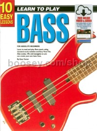 10 Easy Lessons: Teach Yourself Bass (Book, CD & FREE DVD) bass guitar