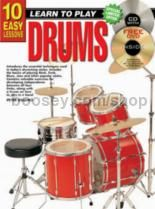 10 Easy Lessons Drums (Book & CD & Free DVD)