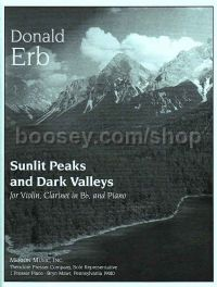 Sunlit Peaks and Dark Valleys for violin, clarinet & piano (score & parts)