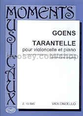 Tarantelle Op. 24 for cello & piano