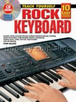10 Easy Lessons Rock Keyboard (Book & CD)