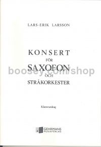 Concerto for Saxophone - Piano reduction