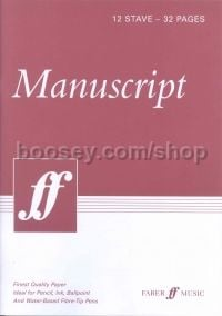 White Manuscript Book - 12 Staves 32 Pages