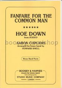 Fanfare for the Common Man/Hoe Down for Brass Band (Parts)