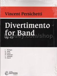Divertimento For Band Set Of Parts