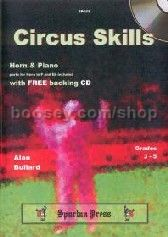 Circus Skills for Horn in Eb/F & Piano (Bk & CD)