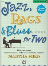 Jazz Rags & Blues for Two duet Book 3 piano