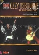 Ozzy Osbourne: The Randy Rhoads Years (Guitar Tablature) (Book & CD)