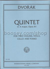 Quintet A Op. 81 Piano Quintet Parts