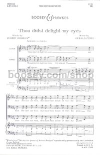 Thou Didst Delight My Eyes, Op. 32 TBB