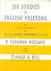 Studies (6) in English Folksong (arr. cor anglais/Eb sax & string orchestra) score & parts