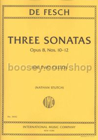 3 Sonatas For 2 Cellos Op. 8 No's 10-12