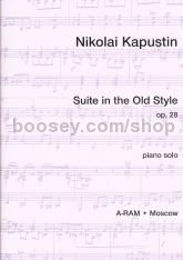 Suite in the Old Style Op. 28 Piano