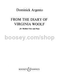 From The Diary of Virginia Woolf - voice & piano