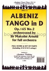 Tango in Dmaj for Orchestra (Score & Parts)