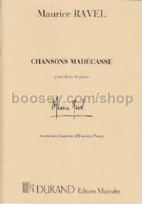 Chansons madecasses - baritone & piano