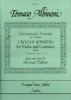 sonatas (12) vol.3 Op. 6 nos 9-12 Violin/Piano