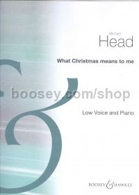 What Christmas Means to Me - low voice and piano