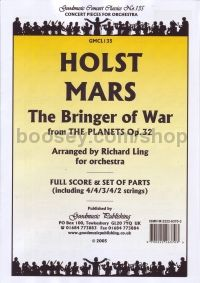 Mars Bringer Of War (From The Planets) Score & Parts
