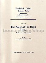Collected Works of Frederick Delius, Vol.11b - Song Of The Hills (SATB & Orchestra) (Study Score)