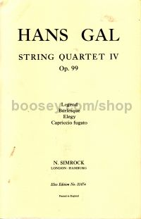String Quartet No.4 Op. 99 Score