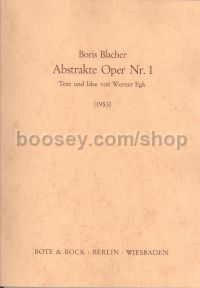 Abstrakte Oper No. 1 (1953)