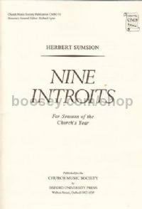 Nine Introits Cms011