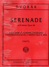 Serenade in Dmin Op. 44 for 2 0boes, 2 Clarinets & 3 Bassoons (Set of Parts)