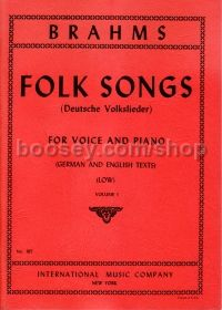 42 Folk Songs Vol.1 (Deutsche Volkslieder) (Low Voice) German/English