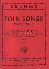 42 Folk Songs Vol.1 (Deutsche Volkslieder) (High Voice) German/English
