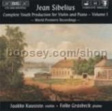 Complete Youth Production for Violin & Piano, vol.1 (BIS Audio CD)