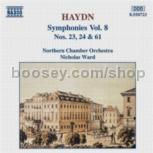 Symphonies vol.8 (Nos. 23, 24, 61) (Naxos Audio CD)