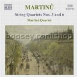 String Quartets Nos. 3 and 6/Duo for Violin & Cello/Three Madrigals (Naxos Audio CD)