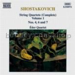 String Quartets Nos. 4, 6 & 7 (Naxos Audio CD)