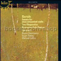 Sonata for Solo Violin/Contrasts for v-cl-pn/Rhapsodies Nos 1 & 2 etc. (Hyperion Audio CD)