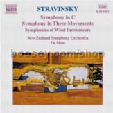 Symphony in C/Symphony in Three Movements/Symphonies of Wind Instruments (Naxos Audio CD)