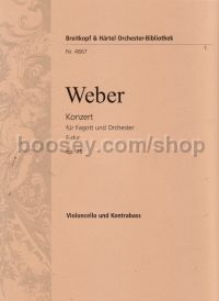 Bassoon Concerto Fmaj Op. 75 Vclo/bass Parts