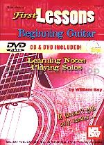 First Lessons Guitar Notes/solos (Book & CD/DVD)