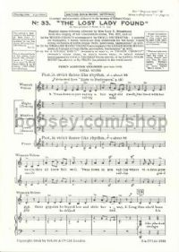 Lost Lady Found SATB