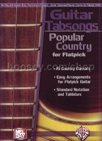 Guitar Tabsongs Popular County For Flatpick