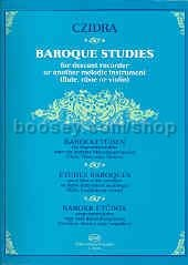 Baroque Studies for Descant Recorder