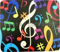 Mouse Pad - colourful music notes (square)