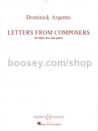 Letters From Composers - high voice & guitar