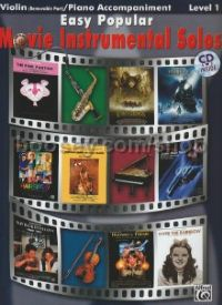 Easy Popular Movie Instrumental Solos Level 1 Violin/Piano