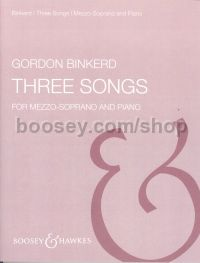 Three Songs - mezzo & piano