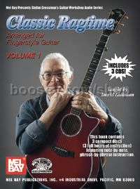 Classic Ragtime Vol 1 Fingerstyle Guitar (Bk & CDs)