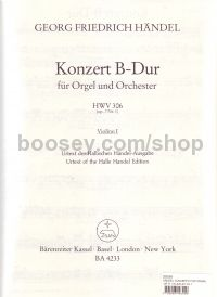 Concerto for Organ in Bb Major, Op.7/1 (Violin I Part)