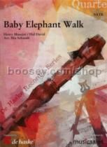 Baby Elephant Walk recorder quartet
