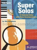Super Solos Alto Sax + piano accomps CD