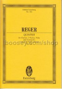 Clarinet Quintet in A Major, Op.146 (Clarinet & String Quartet) (Study Score)